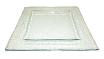 Assiette transparente carrée