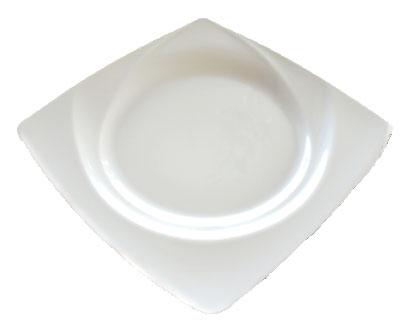 Assiette carrée goutte d'eau