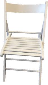 Chaise en bois pliante blanche