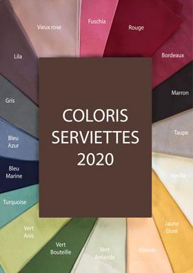 Serviette blanche ou couleur (divers coloris)