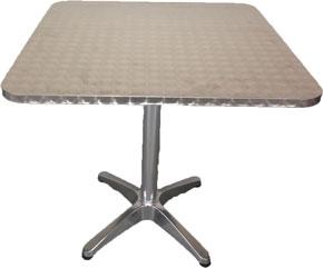 Table bistrot alu carrée