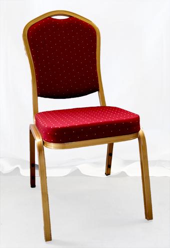 Chaise conférence bordeaux/or