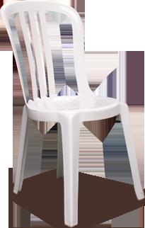Chaise Miami en résine blanche