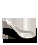 Cuillère chinoise en porcelaine