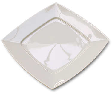 Assiette plate carrée