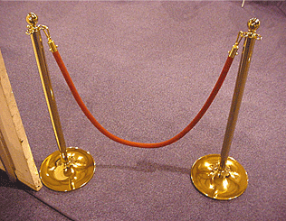 Potelet cordon de luxe bronze