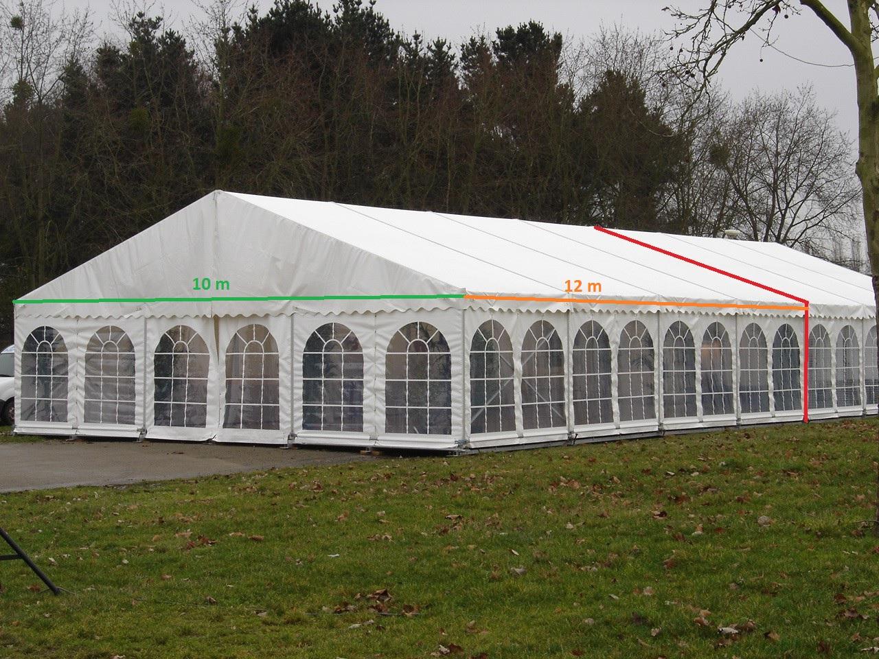 Tente prestige travée de 3 m