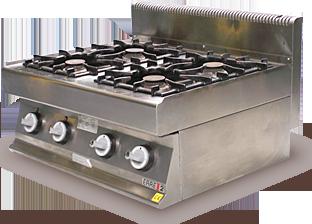 Réchaud module inox 4 feux gaz