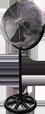 Ventilateur sur pied tournant