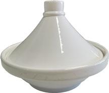 Tajine individuelle en porcelaine blanche