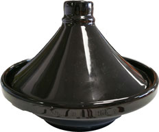 Tajine individuelle en porcelaine noir